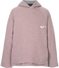martine rose oversized striped hoodie - grey
