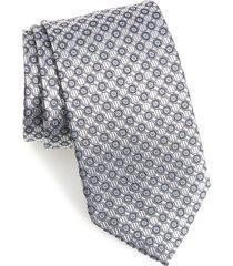 men's nordstrom neat silk tie, size regular - metallic