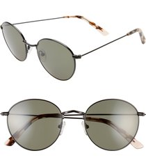 madewell fest 50mm aviator sunglasses in true black at nordstrom