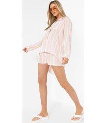 pastel gestreepte baggy blouse, pink