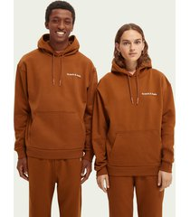 scotch & soda unisex hoodie van biologisch katoen
