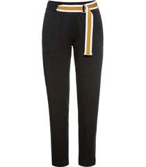 pantaloni in jersey con cintura a contrasto (nero) - rainbow