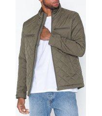 selected homme slhjason quilted jacket w jackor mörk grön