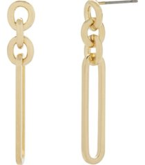 14k gold plated laney chain earrings