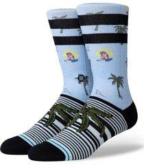 calcetin aloha monkey azul stance