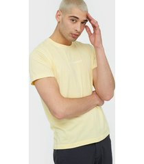 calvin klein jeans instit chest logo reg tee t-shirts & linnen mimosa