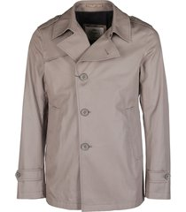 herno brown cotton trench coat