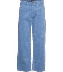 5 pocket wide leg wijde broek blauw lee jeans