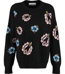 la doublej long sleeve crew-neck sweater
