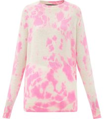 hot tranquility tie-dye cashmere sweater