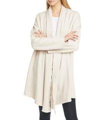 women's frank & eileen raw edge cotton fleece drape coat