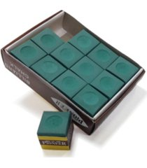 blue wave billiard pool cue chalk - 12 pack