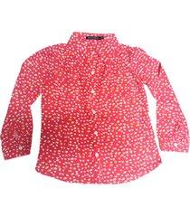 camisa coral mapamondo khesa