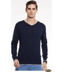 suéteres manga larga gaupucean para hombre-armada