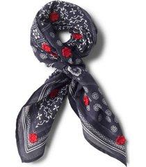 embroidered cotton bandana