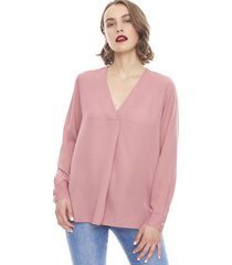 blusa cuello v palo rosa oscuro  corona