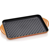 grelha retangular tradicional - 32cm - le creuset - laranja