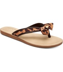 charter club women's esmaraa bow thong sandals, created for macy's women's shoes