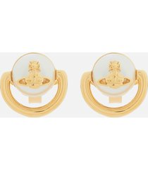 vivienne westwood women's celia small earrings - gold cream