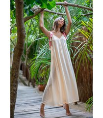 pitusa tassle tie dress melon