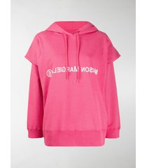 mm6 maison margiela double sleeve logo hoodie