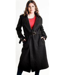 chaqueta larga paño sintético negra night concept