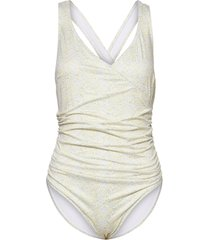 anett swimsuit print baddräkt badkläder creme camilla pihl