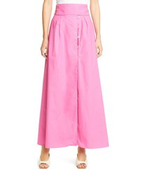 women's iorane solid cotton maxi skirt, size x-small - pink