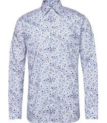blue papyrus print twill shirt skjorta business blå eton