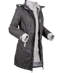 giacca tecnica 3 in 1 con cappuccio (grigio) - bpc bonprix collection