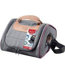 bolsa térmica maped picnik com alça de mão e tapete de mesa rosa 4,4l