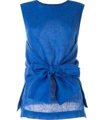 bambah tie front tunic - blue