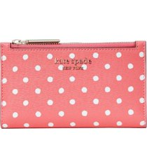 kate spade new york spencer dots small slim bifold wallet