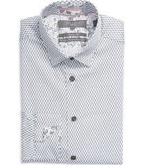 men's big & tall ted baker london cotton blend dress shirt, size 17.5 - white