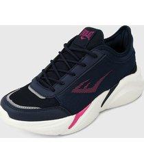 tenis lifestyle azul navy-rosa everlast moliat