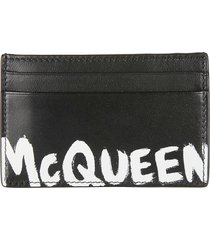 alexander mcqueen logo painted card holder