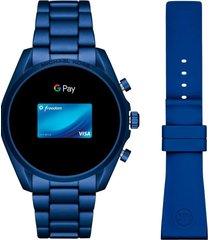 reloj fashion azul michael kors access