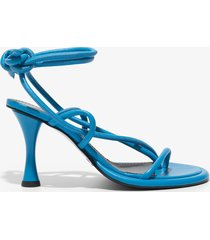 proenza schouler pipe strappy thong sandals bright blue 39