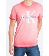 camiseta masculina básica degradê vermelho calvin klein jeans - pp