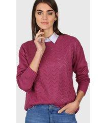 sweater rosa ted bodin calado