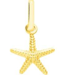 ciondolo stella marina in oro giallo per donna