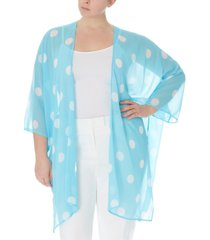 anne klein plus size big dot chiffon kimono
