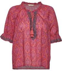 isabelle short sleeve blouse blouses short-sleeved rood odd molly
