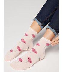 calzedonia mr. wonderful ankle socks woman print size tu