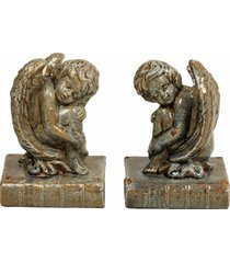 aparador de livros decorativo de porcelana angel