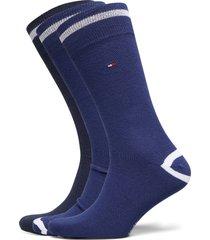 th men sock 2p crest underwear socks regular socks blå tommy hilfiger