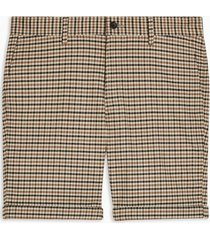 mens multi houndstooth stretch skinny shorts