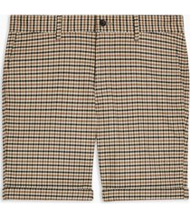 mens multi houndstooth woven skinny shorts