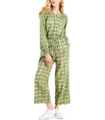 style & co petite textured jumpsuit, created for macy's