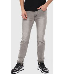 jeans ellus gris - calce ajustado